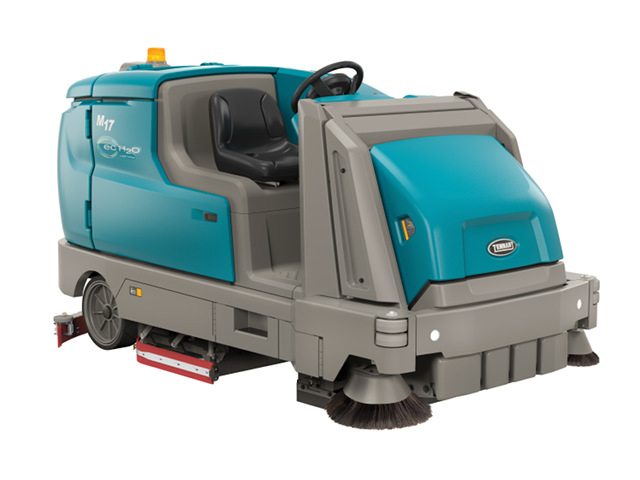 Energy Efficient: the battery powered Tennant M17 sweeper-scrubber. Image courtesy of Tennant/BusinessWire.
