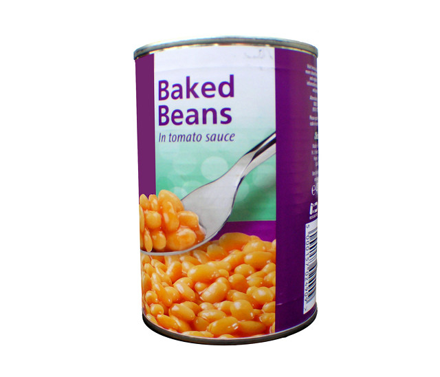 Baked Beans tin by Peter Baxter.