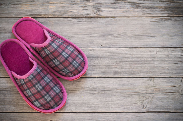 Pink Slippers: imagine these as floor cleaning slippers?