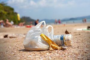 Discarded plastic bag image (via Shutterstock).