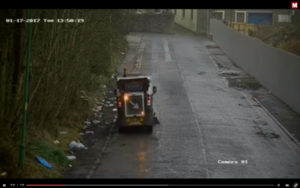 Shocking street sweeping sequence