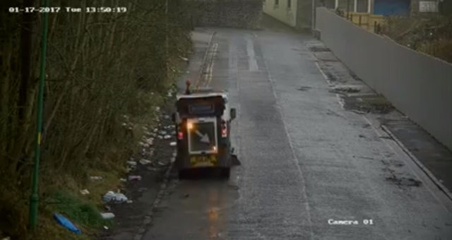 Street Sweeper Makes a Sweeping Statement