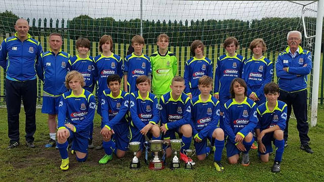Blackbrook JFC treble winning side