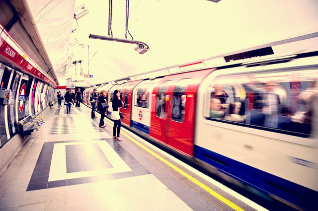 Tube train image by Julius Kielaitis (via Shutterstock).