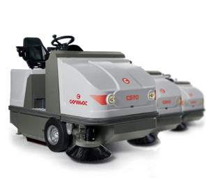 Comac CS80/90/110 Ride On Sweepers
