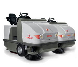 Comac CS80/90 Ride On Sweepers