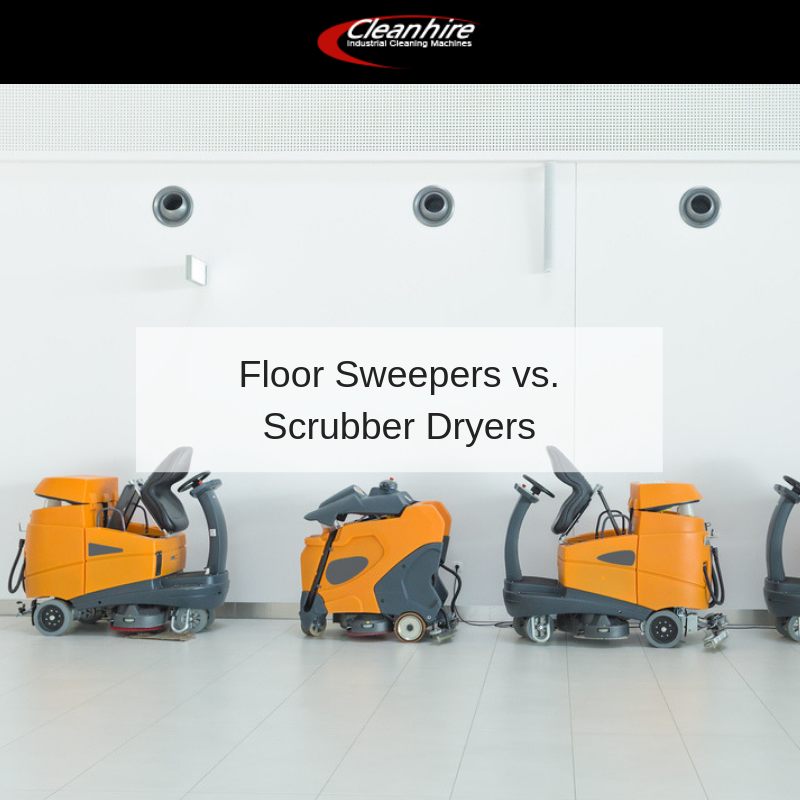Floor Sweepers vs. Scrubber Dryers