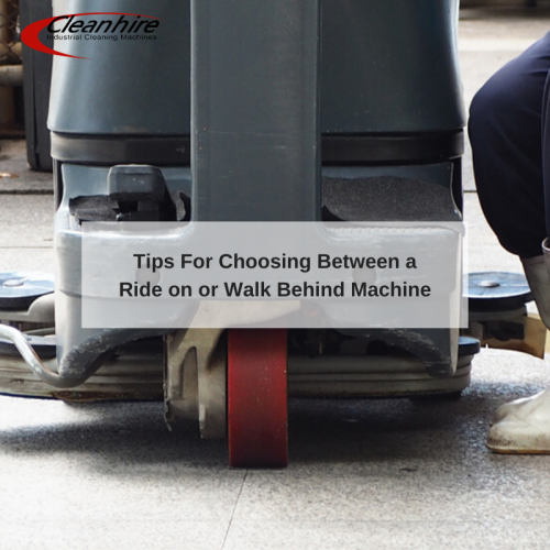 Tips For Choosing Between a Ride on or Walk Behind Machine